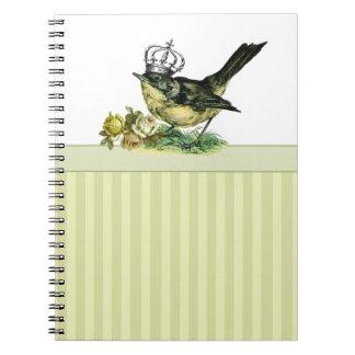 ヴィンテージBird.Valentine日のギフトのノート ノートブック