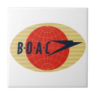 ヴィンテージBOAC航空会社のロゴ タイル