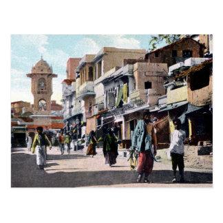 ヴィンテージcの1910年の通り場面Udaipurインド ポストカード