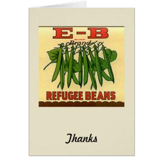 ヴィンテージEBのブランドの避難者のインゲン カード