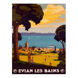 ヴィンテージÉvian-les-Bains、Rhône-Alpes、フランス- ポストカード