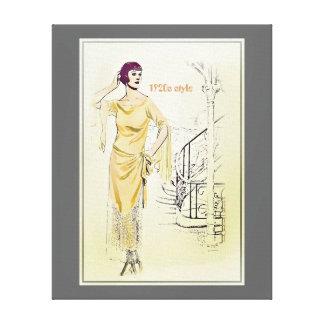 ヴィンテージFashionista_Lounging Robe_1920s キャンバスプリント