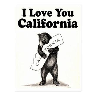 ヴィンテージI愛カリフォルニア州くま ポストカード