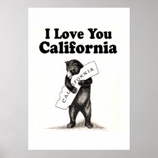 ヴィンテージI愛カリフォルニア ポスター