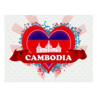 ヴィンテージI愛カンボジア ポストカード