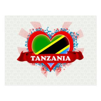 ヴィンテージI愛タンザニア ポストカード
