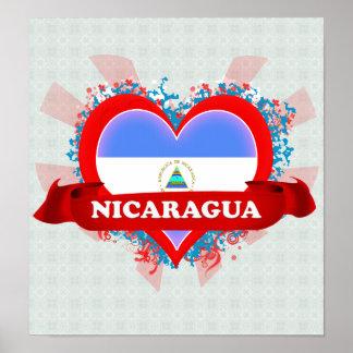 ヴィンテージI愛ニカラグア ポスター