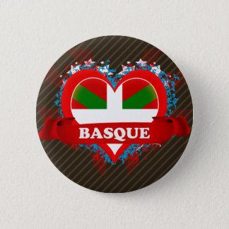 ヴィンテージI愛バスク語 5.7CM 丸型バッジ