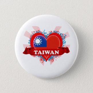 ヴィンテージI愛台湾 5.7CM 丸型バッジ