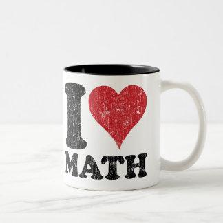ヴィンテージI愛数学 ツートーンマグカップ