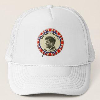 ヴィンテージJFK John Kennedyボタン私達の次の大統領 キャップ
