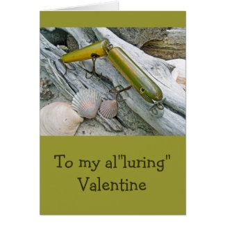 ヴィンテージMasterlureはウナギのバレンタインを接合しました カード