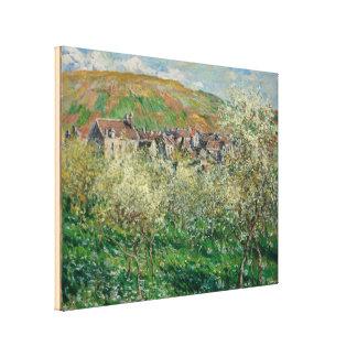ヴィンテージMonet 1879本の花盛りのスモモの木 キャンバスプリント