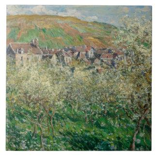 ヴィンテージMonet 1879本の花盛りのスモモの木 タイル