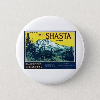 ヴィンテージMt Shastaカリフォルニアのナシのラベル 缶バッジ