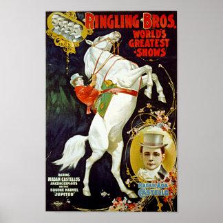 ヴィンテージRingling Bros。 世界で最も素晴らしいショー ポスター