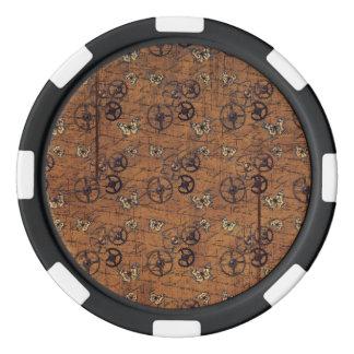 ヴィンテージSteampunkは壁紙を連動させます ポーカーチップ