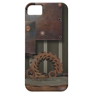 ヴィンテージSteamPunkは蝶番のiPhone 5カバーを連動させます iPhone SE/5/5s ケース