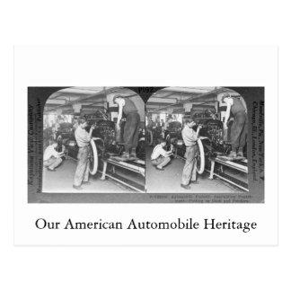 ヴィンテージStereoview私達の自動車伝統 ポストカード