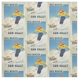 ヴィンテージSun Valley、アイダホのカスタマイズ可能な生地 ファブリック