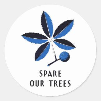 ヴィンテージWPA -私達の木|のステッカーを倹約して下さい ラウンドシール