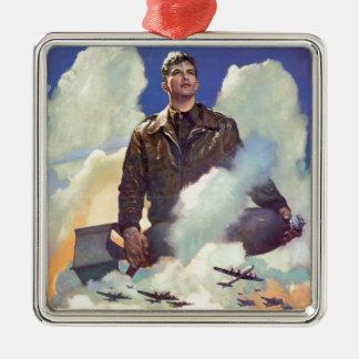 ヴィンテージWWIIの空軍ポスターデザイン メタルオーナメント