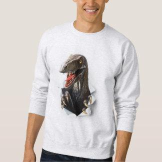 ヴェロキラプトルの恐竜のスエットシャツ スウェットシャツ