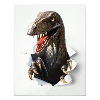 ヴェロキラプトルの恐竜の写真のプリント フォトプリント