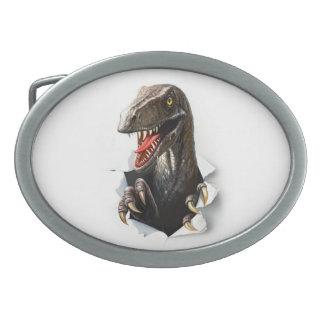 ヴェロキラプトルの恐竜の楕円形のベルトの留め金 卵形バックル