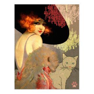ヴェロニカ猫およびシャンデリアの郵便はがき ポストカード