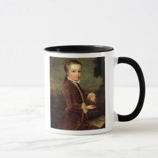 ヴォルフガング・アマデウス・モーツァルトのポートレートは老化しました マグカップ