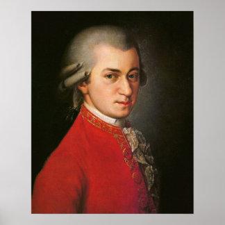 ヴォルフガング・アマデウス・モーツァルトのポートレート ポスター