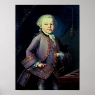 ヴォルフガング・アマデウス・モーツァルト1763年 ポスター