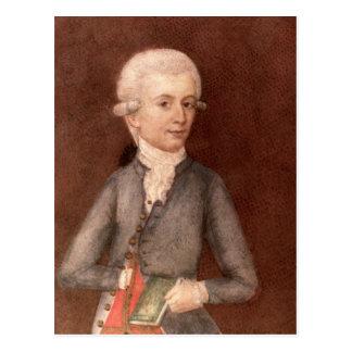 ヴォルフガング・アマデウス・モーツァルト、c.1780 ポストカード