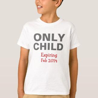 一人っ子の切れるTシャツ Tシャツ