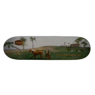一人乗り二輪馬車の景色のスケートボード スケートボードデッキ