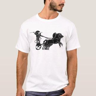 一人乗り二輪馬車(馬キャリッジ)、ギリシャのレリーフ、浮き彫りのデザイン Tシャツ
