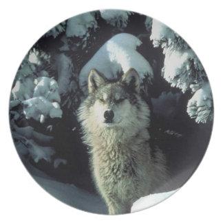 一匹狼のプレート プレート
