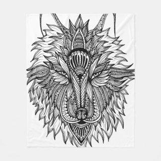 一匹狼 フリースブランケット