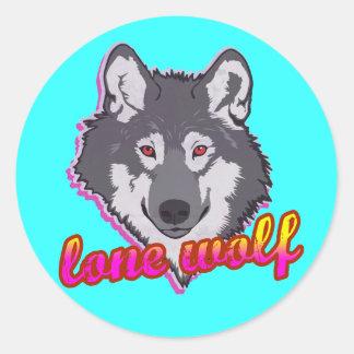 一匹狼、80年代のスタイル! ラウンドシール