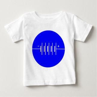 一周された電池の記号 ベビーTシャツ