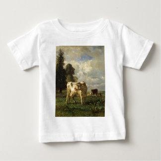 一定したTroyon著分野の牛 ベビーTシャツ