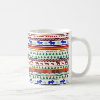 一度青いアメリカヘラジカおよび友人-マグで コーヒーマグカップ