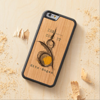一我無限 オリジナル CarvedチェリーiPhone 6バンパーケース
