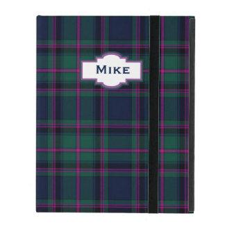 一族のたる製造人の格子縞のカスタムなiPadの場合 iPad ケース