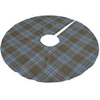 一族のアンダーソンのスコットランドのタータンチェック ブラッシュドポリエステルツリースカート