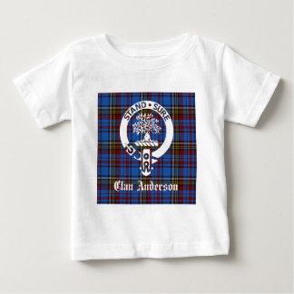 一族のアンダーソンのタータンチェックの頂上 ベビーTシャツ
