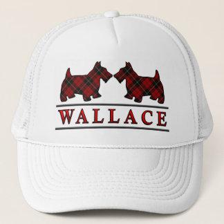 一族のウォーレスのタータンチェックのスコッチテリア犬 キャップ
