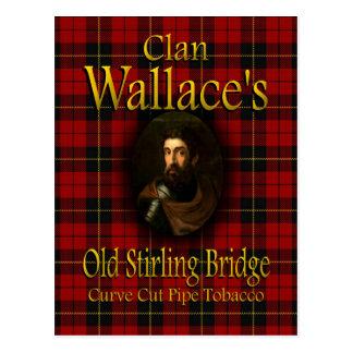 一族のウォーレスの古いスターリング橋管タバコ ポストカード