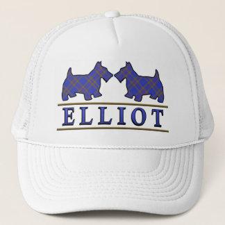 一族のエリオットのタータンチェックのスコッチテリア犬 キャップ